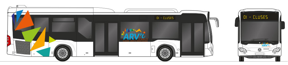 Habillage bus, graphiste lyon