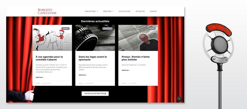 Webdsign site Roberto Capezzone, graphiste lyon