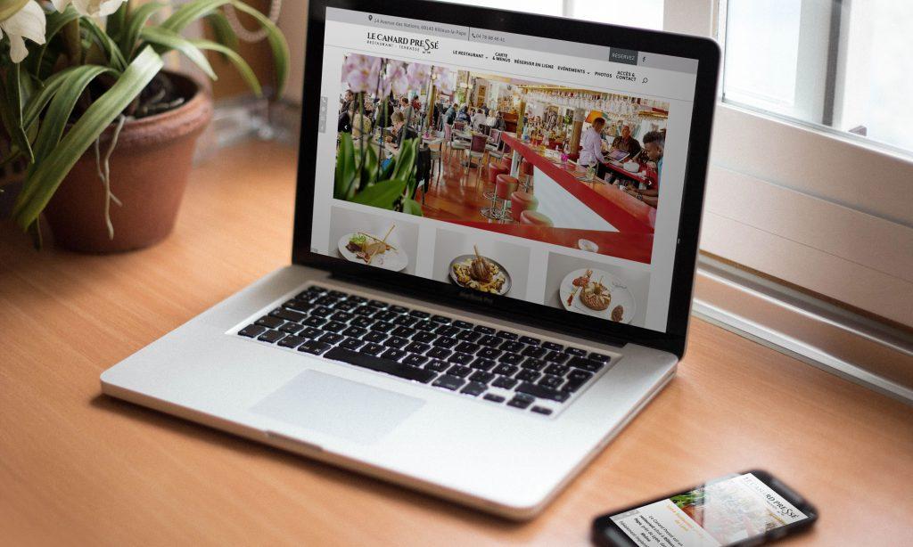 Webdesign du site Canard pressé